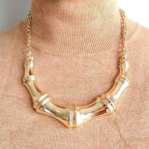Gold Toned Bone Design Necklace